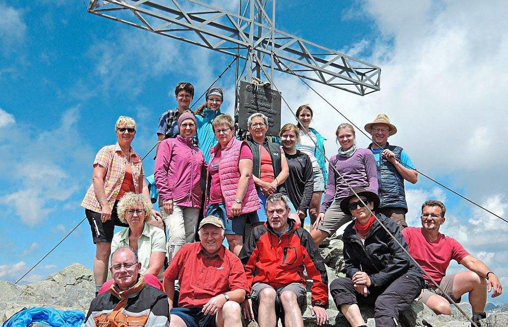 Mit Kolpingzitaten zum Gipfel des Greifenberg